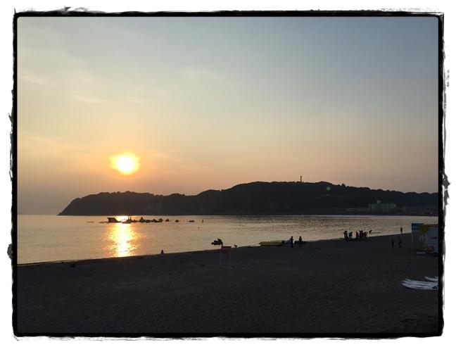 逗子海水浴場夕景